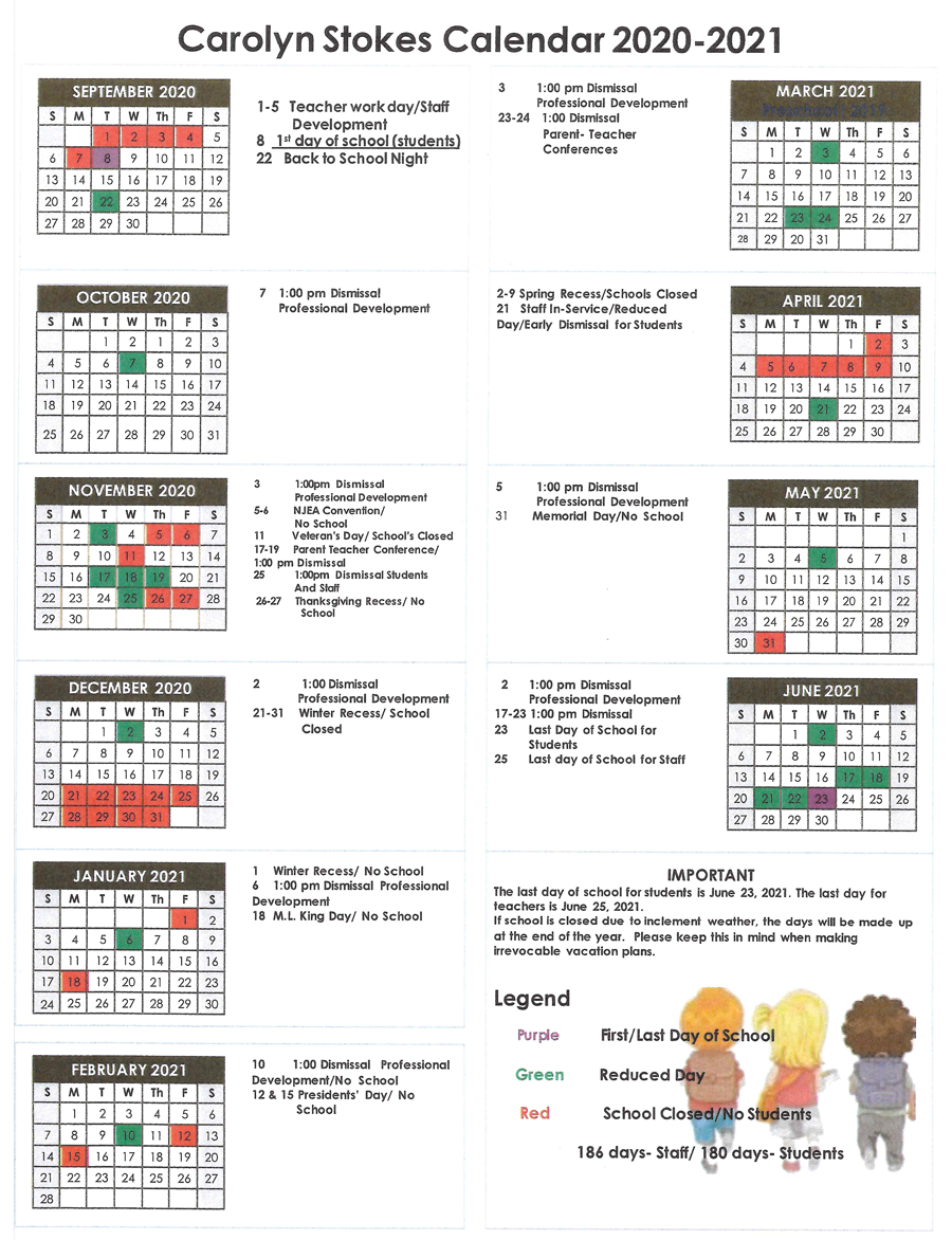 2020-21 Full Calendar